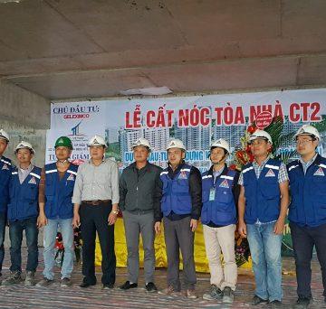 Lễ cất nóc tòa nhà CT2 – Chung cư Hoàng Mai, Hà Nội tháng 10/2017