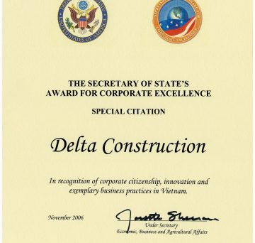 Special Citation to Delta Company